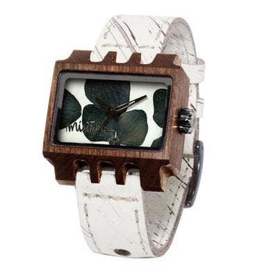 Mistura Timepieces Lenzo Hollister Pui BlackSilver Flowers U Watch