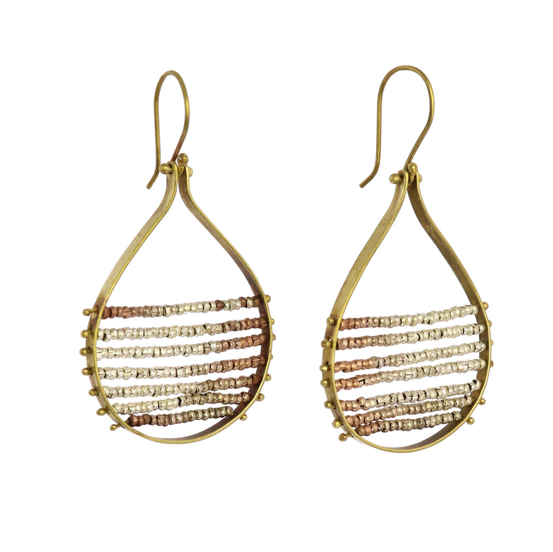 Mela Beaded Earrings - Nickel