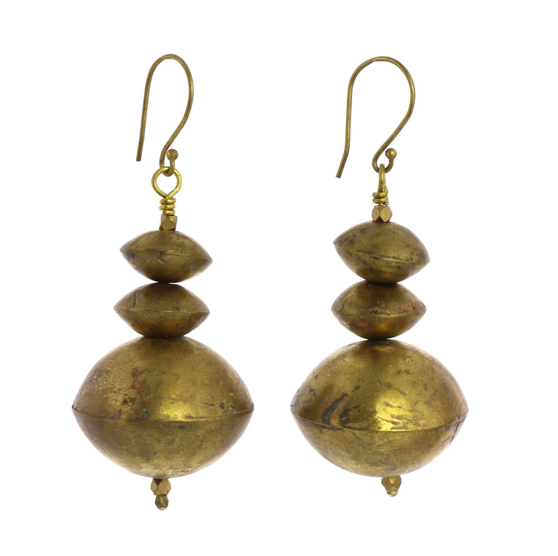 Hilo Brass Multi Bi Cone Earrings