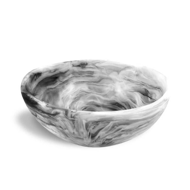 Resinware Australia Wave Bowl Large - Black Swirl