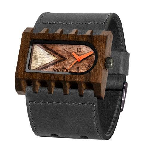 Mistura Timepieces Ferro Grey Pui Timber O Watch