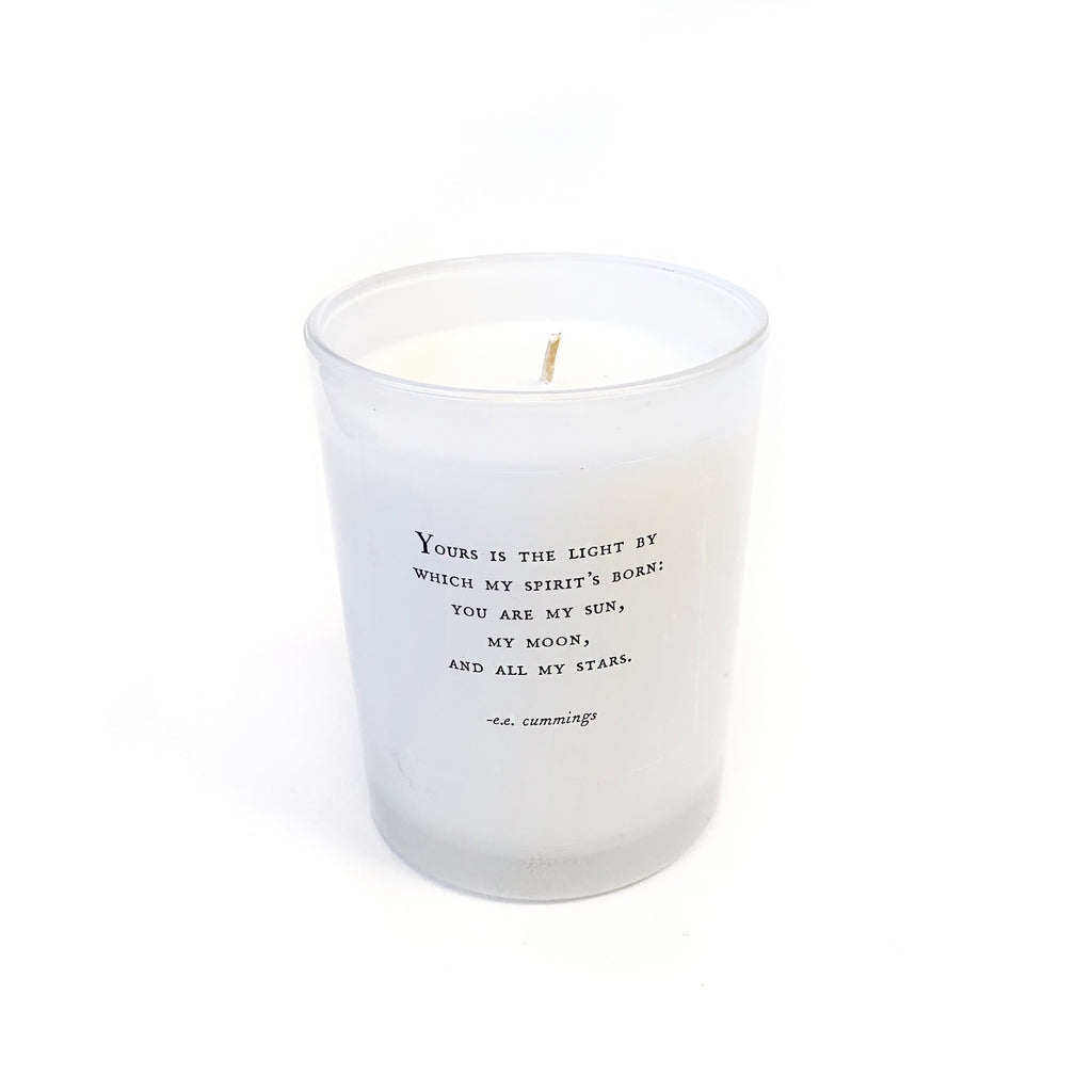 Sugarboo & Co. Candle with E.E. Cummings Quote