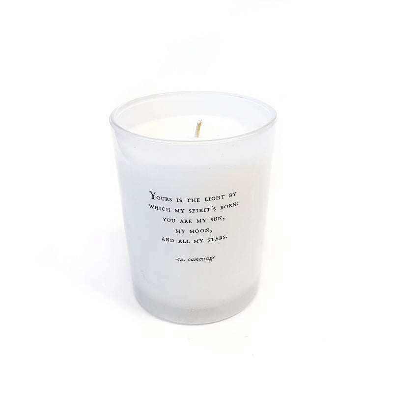 Candle with Quote
