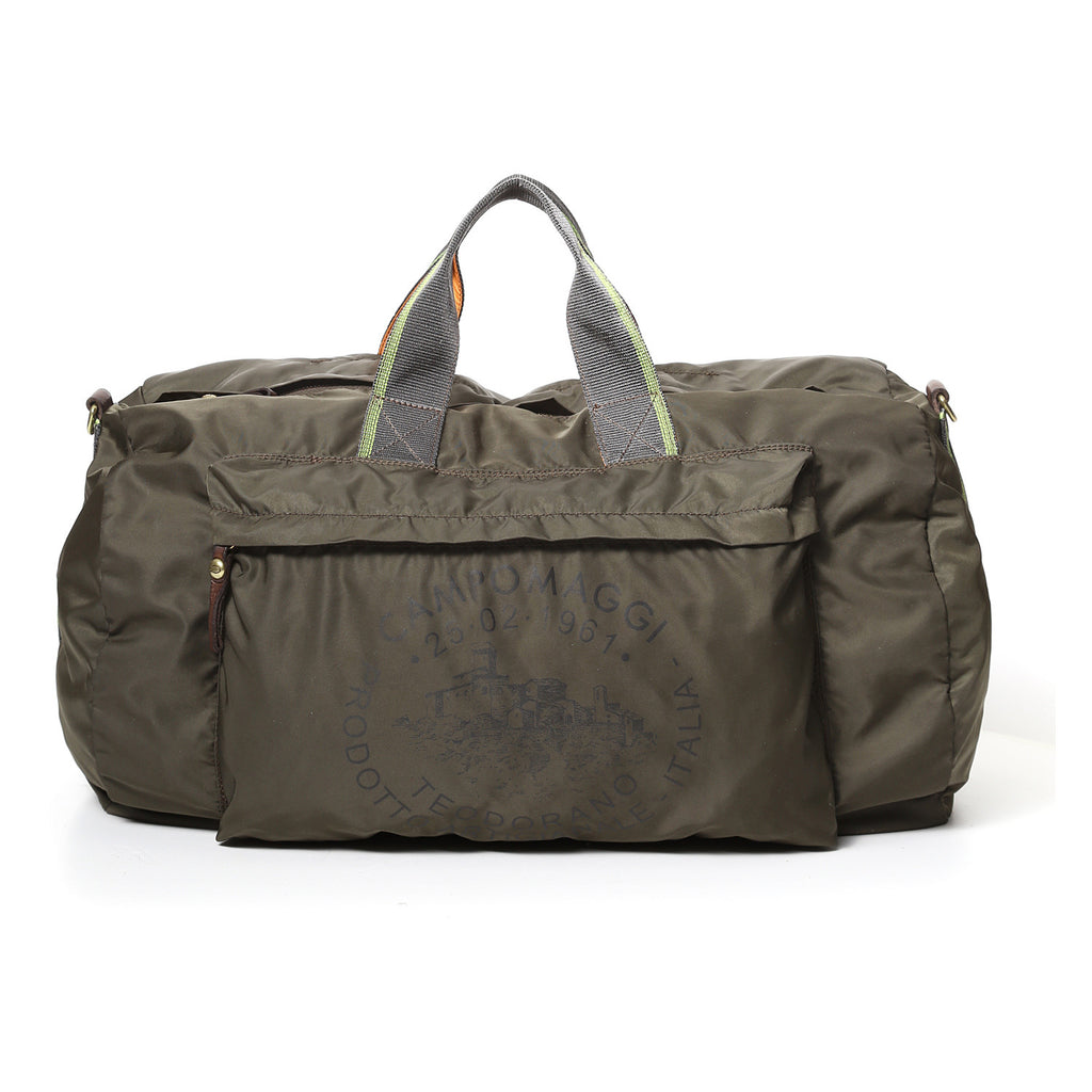Campomaggi Weekend Bag Nylon + Cow Teodorano Print Military Green