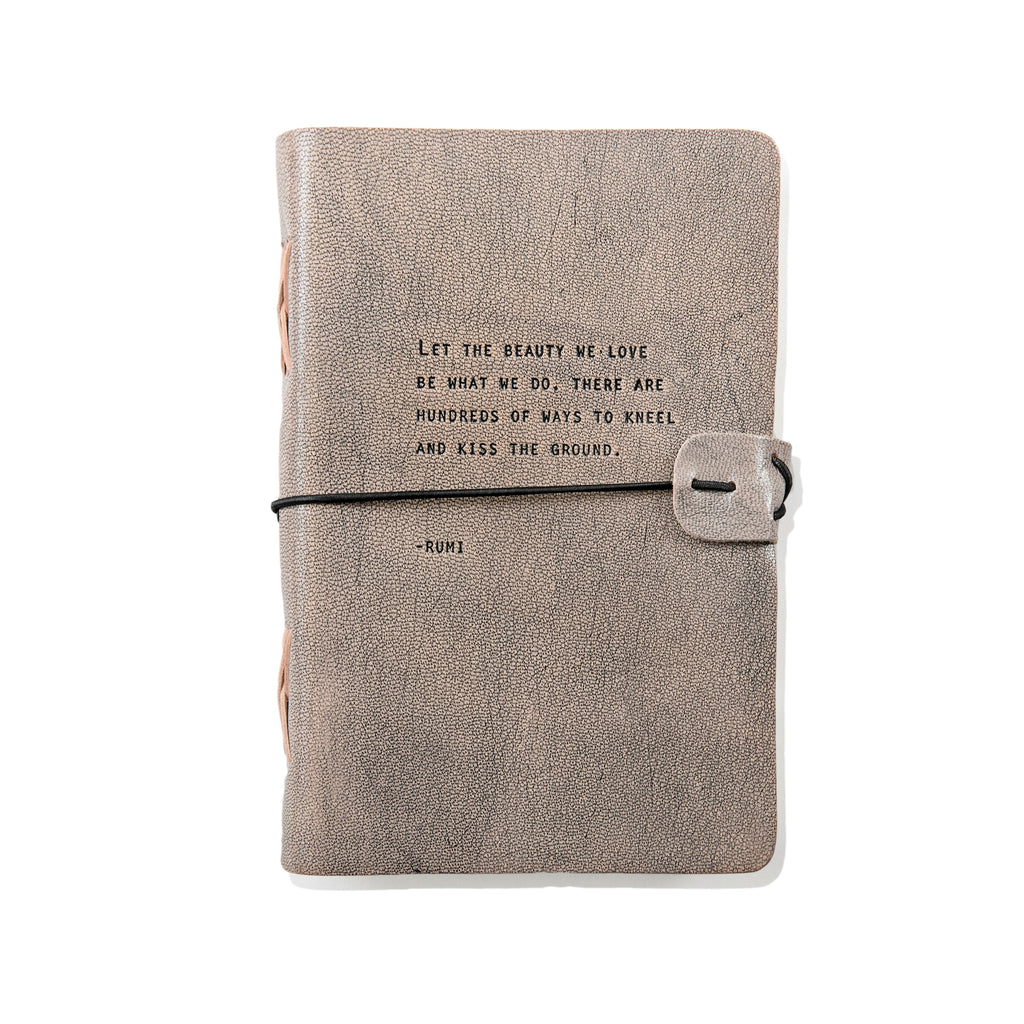 Sugar Boo & Co. Grey Leather Journal