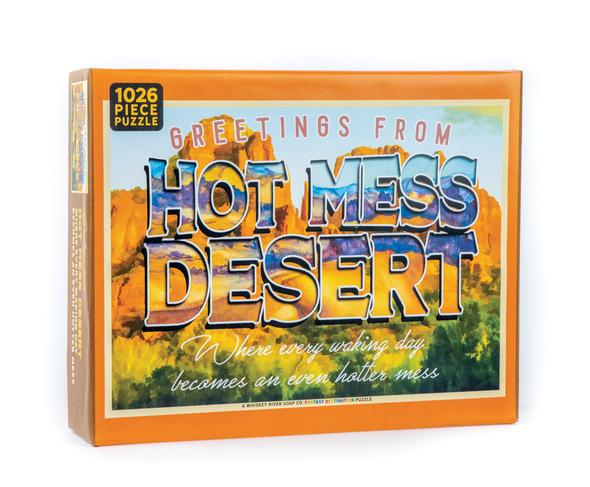Whiskey River Soap Co. Greetings from the Hot Mess Desert Puzzle