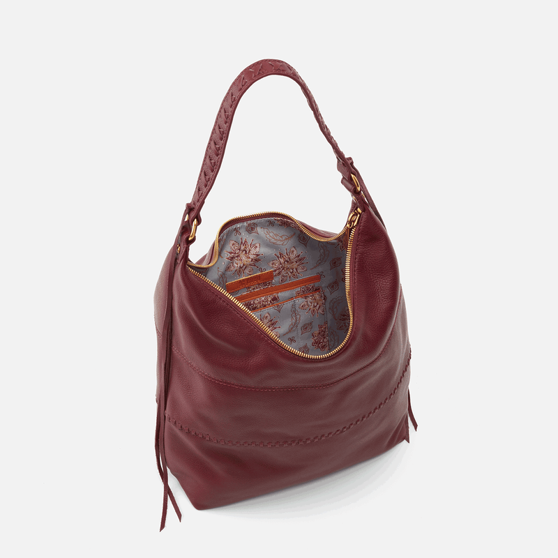Hobo Bags Entwine Velvet Hide Leather Hobo Bag
