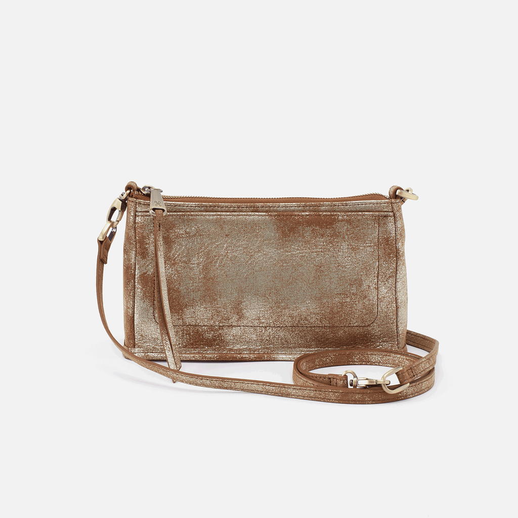 Hobo Bags Cadence Metallic Gilded Leaf Convertible Crossbody