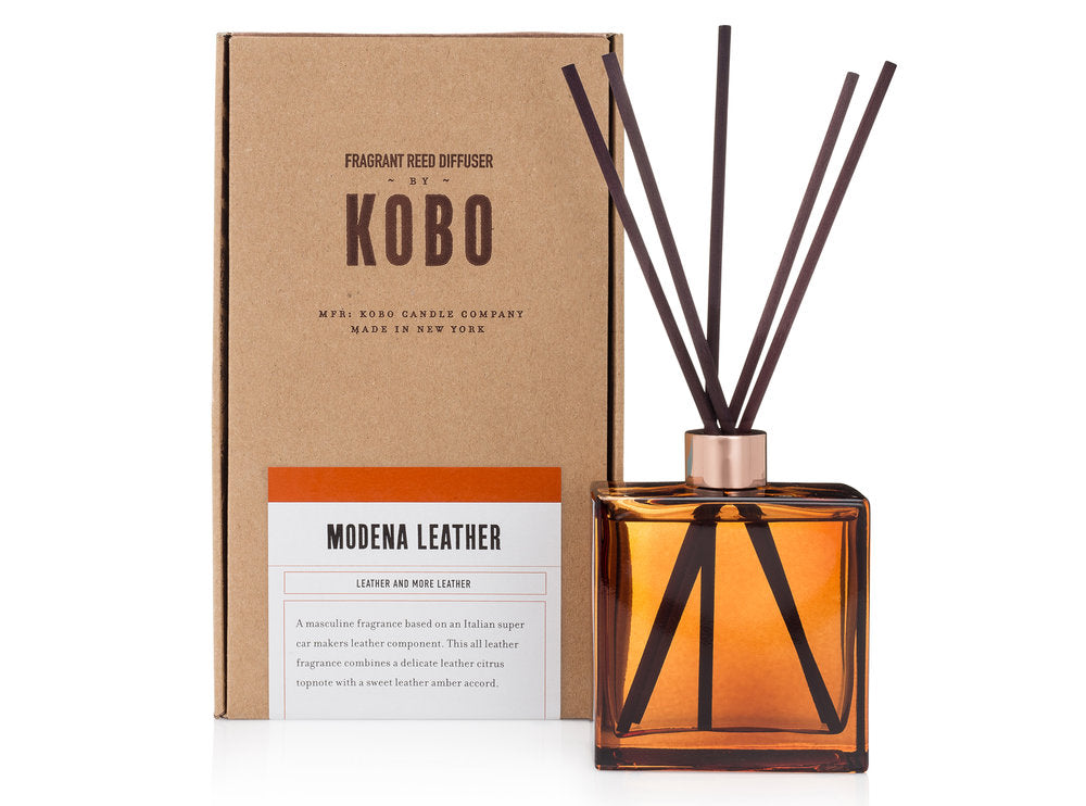 KOBO Room Diffusers Dark Cassis, Stone Flower, Bourbon 1792, Modena Leather