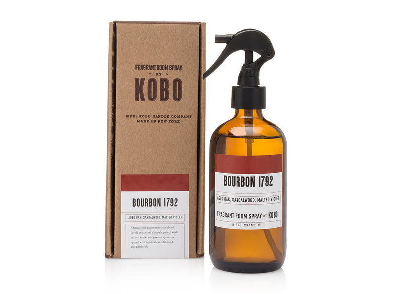 KOBO Room Spray Bourbon 1792 Dark Cassis, Modena Leather, Stoneflower