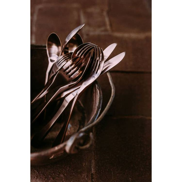 KNORK Copper 20 Piece Flatware Set