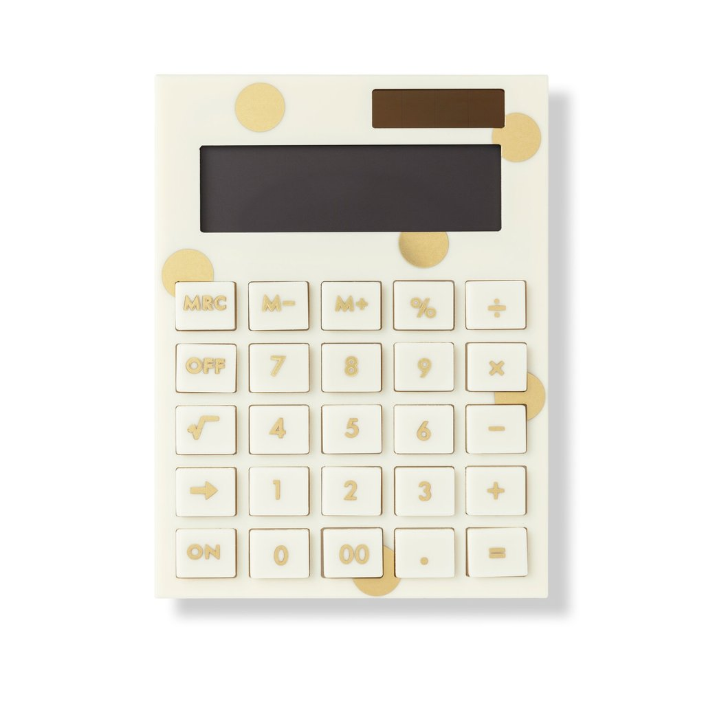 Kate Spade New York Acrylic Calculator, Gold Dot