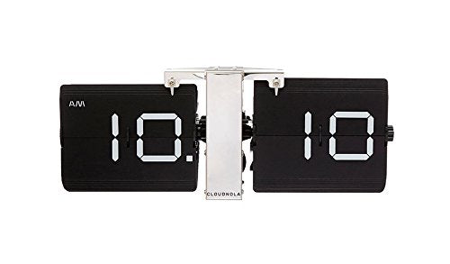 Cloudnola Flipping Out Black or Grey Wall Clock