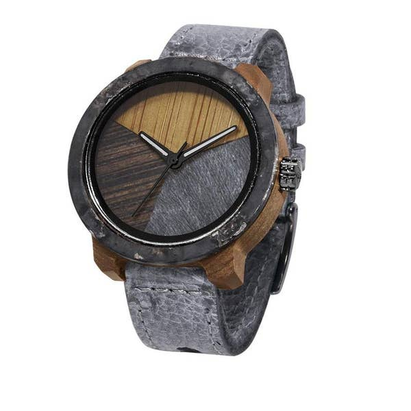Mistura Timepieces Marco XL Grey Pui Iron Timber 2 Watch