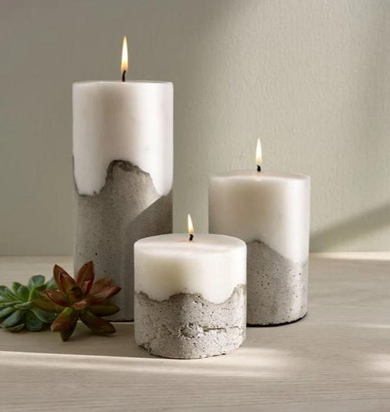 Pylon Cement Pillar Candle