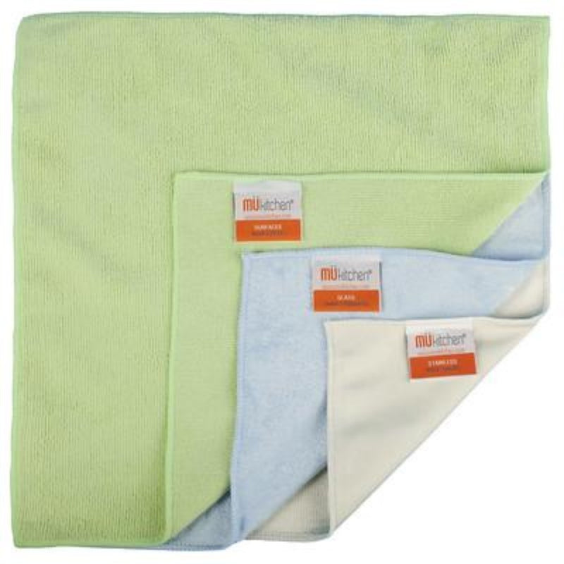 Mukitchen Microfiber Cleaning Cloths Set/3