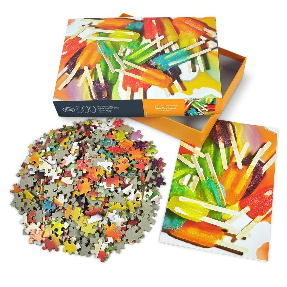 Genuine Fred Ice Pops Puzzle Designed by: Dan Saelinger (500 Pieces)