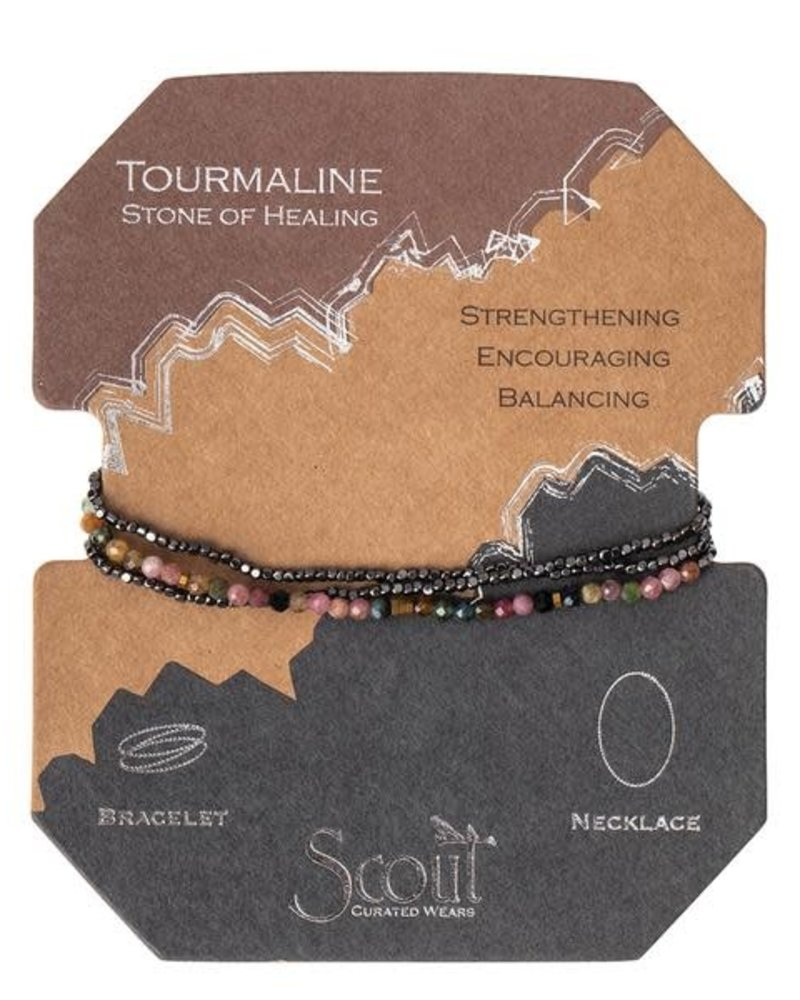 Scout Curated Wears Delicate Stone Wrap Bracelet / Necklace