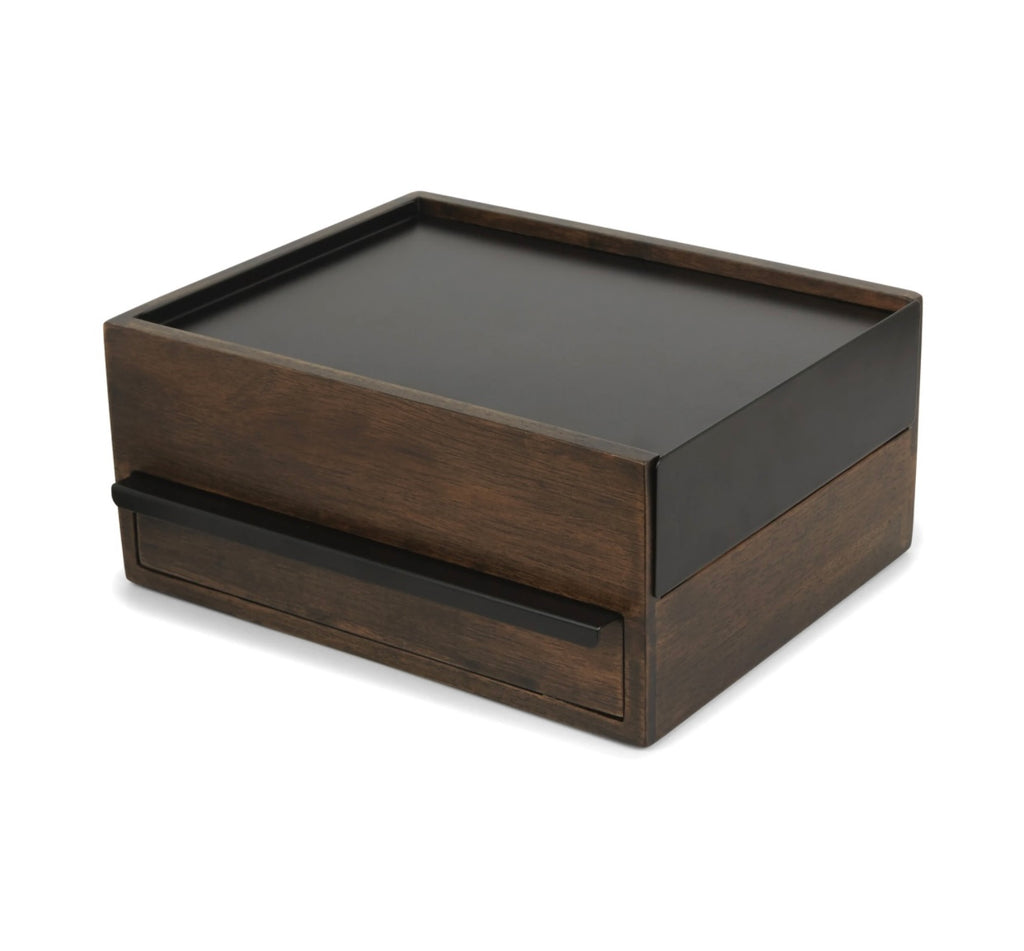 Umbra Stowit Jewelry Box Black / Walnut