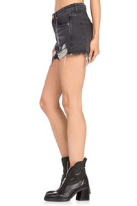 Blake Smokey Black Distressed Shorts