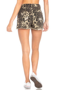 Lawson Leopard Distressed Shorts