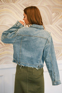 Jax Distressed Jean Jacket in Denim