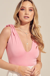 Tati Tie Bodysuit in Bubblegum