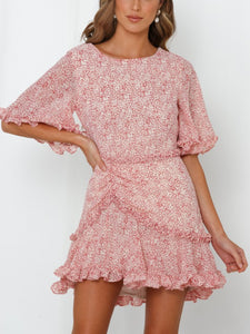 Maren Ruffled Floral Dress