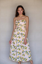Lizzie Lemon Print Midi Dress