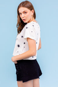 Star Spangled Crop Tee