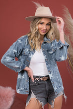 Jude Distressed Star Denim Jacket