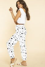 The Stars Align Pocketed Joggers in White/Black