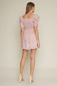 Pippa Puff Sleeve Floral Dress