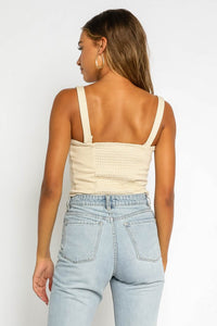 Bella Bust Seam Sweetheart Tank in Natural