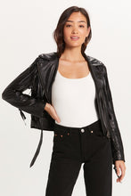 Farrah Fringe Leather Moto Jacket