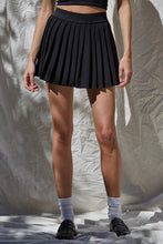 Saxon Pleated Tennis Skirt in Black