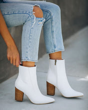 Tory White Croc Booties
