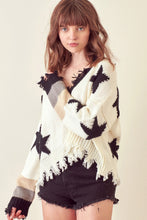 Salem Distressed Star Sweater