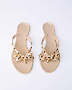 Sarasota Studded Sandals in Nude