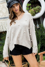 Payton Pom Pom V-Neck Sweater
