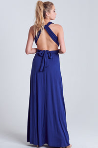 Oana Navy Wrap Maxi Dress