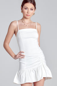 Lillie Ruched Ruffle Dress