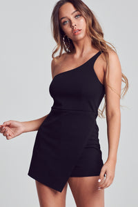 Ollie Overlap Romper in Black