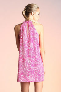 Lilly Palm Dress in Fuchsia