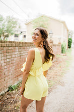 Reese Ruffle Romper in Lemon