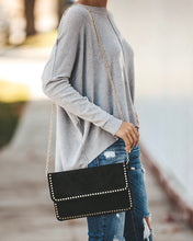 Black Studded Clutch