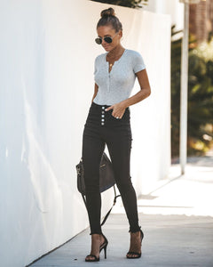 Taylor Button Fly Black Skinnies