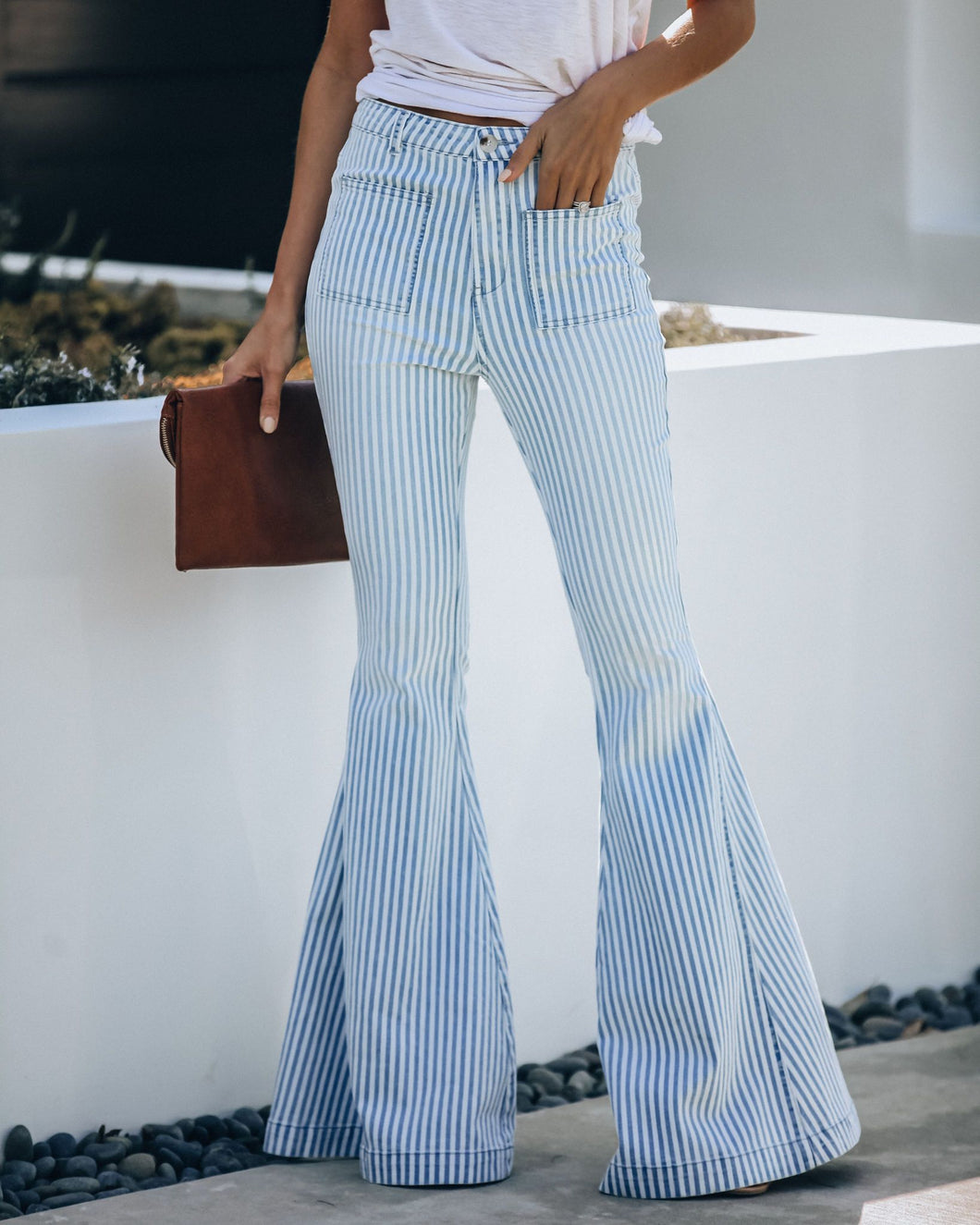 Sailor Pocketed Striped Bell Bottoms