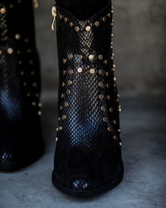 Icon Studded Leather Booties