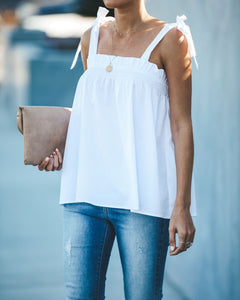 Alessandra Shoulder Bow Smocked Tank